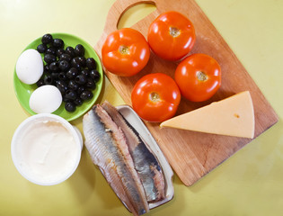 ingredients for stuffed tomato salad
