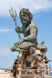 Giant King Neptune Statue in VA Beach