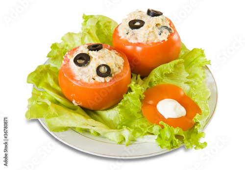 stuffed tomato salad