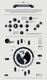 elements of infographics with a map of America in retro style poster