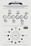 elements of infographics in retro style poster