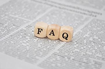 FAQ Schriftzug