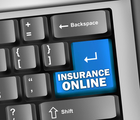 "Keyboard Illustration ""Insurance Online"""