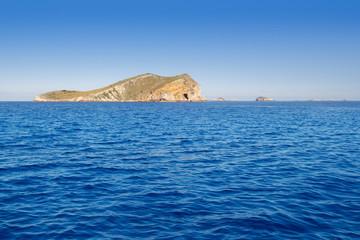 Ibiza Esparto island from a boat view