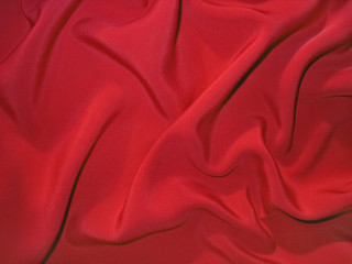 Dull red fabric (artificial silk)