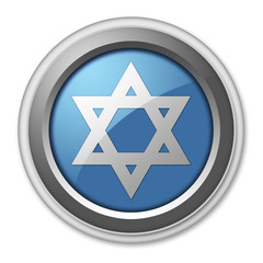 "3D Style Button ""Star Of David"""