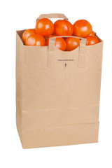 Paper shopping bag with tomatoes