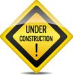 Achtung Warnung Schild Under Construction !