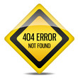 Achtung Warnung Schild 404 Error not found