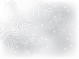 Winter background with calligraphic snowflakes