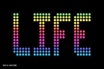 Life in Technicolor EPS 10 Vector