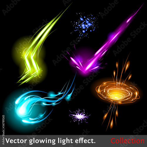 Vector light effects set