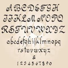 Grunge alphabet