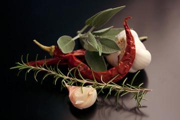 Aglio, Peperoncino, Salvia & Rosmarino