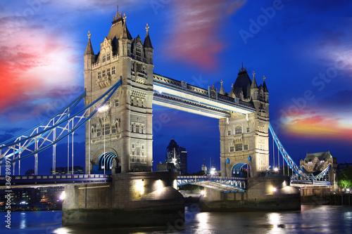 Fototapeta Famous Tower Bridge, London, UK