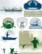 Fishing vector elements