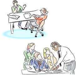 Group meeting at work