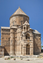 Ancient Armenian church on Akhtamar Island on Van lake