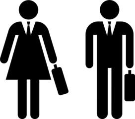 pictogramas de personas vestidas para ir al trabajo