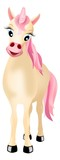 unicorn with pink mane and tail poster