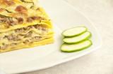 lasagna white with zucchini - 36796857