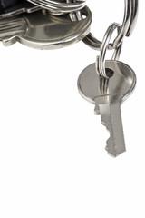 Runder Schlüssel am Schlüsselrad