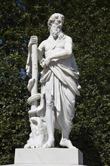 the statue in the garden of the schonbrunn palace, vienna