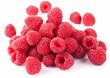 Ripe raspberries.