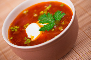 closeup red borsch