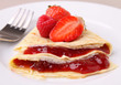 pancake with fruit jam