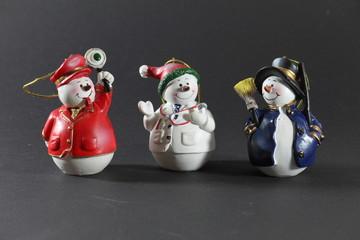 Schneemannfiguren