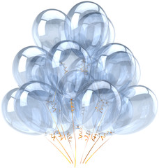 Party balloons white blank birthday decoration translucent