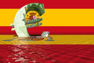 euro crisis spain 3D