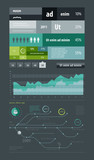 elements of infographics with metro map