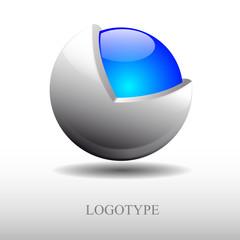 Logo metamorphosis, protected sphere # Vector