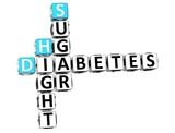 3D Diabetes Hight Sugar Crossword poster