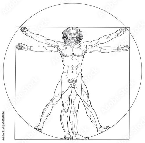 Vitruv-Mann von Leonardo da Vinci