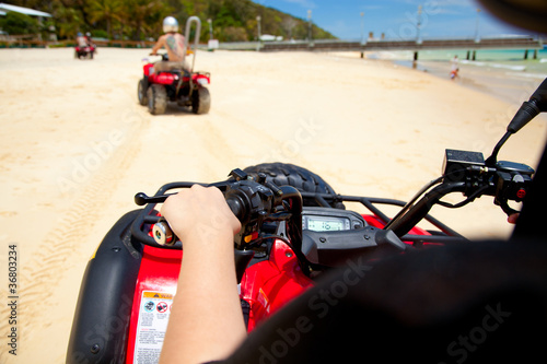 Quad bike view