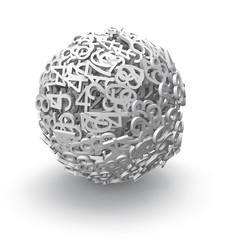 3d sphere of numbers
