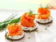Canapes with smoked salmon - 36805024