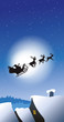 Fliegender Weihnachtsschlitten mit Dächern