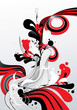 ink  color abstract vector