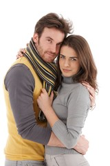 Beautiful couple embracing