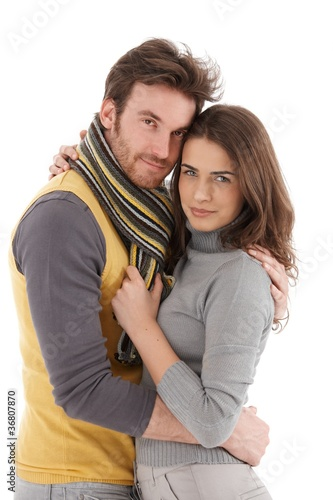 Beautiful couple embracing