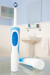 Electric toothbrush and toothpaste