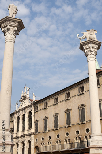 Vicenza (Veneto, Italy): The historic main square