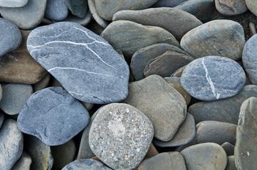 Pebble on seacoast.