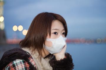 Princess MAIKO Benicio at sea side / flu mask / face / Innocent