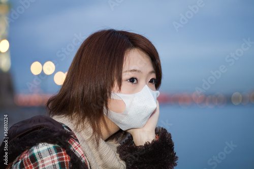 Princess MAIKO Benicio at sea side / flu mask / face / Innocent
