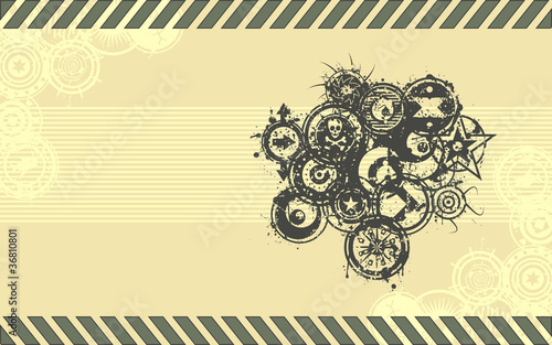 Wide-screen Format Vector Grunge Background